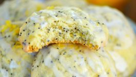 Glazed Lemon Poppy Seed Cookies