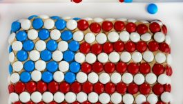 Chocolate Chip Cookie Dough Flag Dip