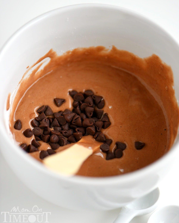 Hot Chocolate Mug Cake No Baking Powder