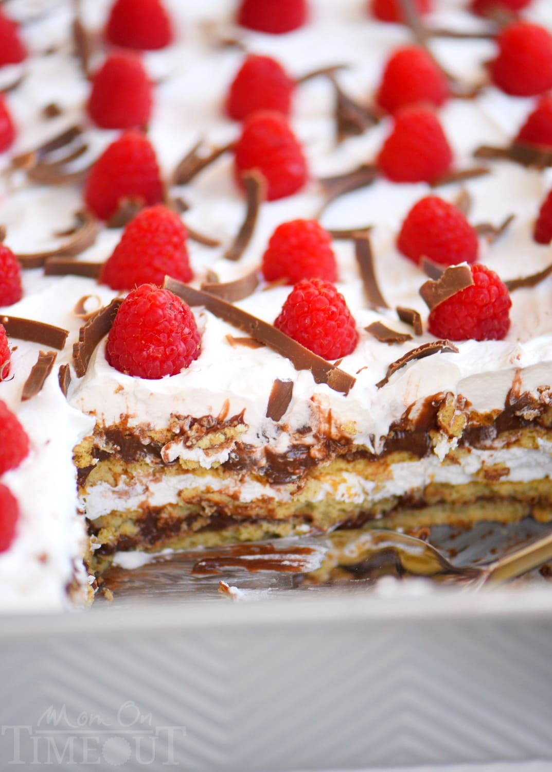 Lemon Raspberry Icebox Cake