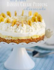 No Bake Banana Cream Pudding Cheesecake