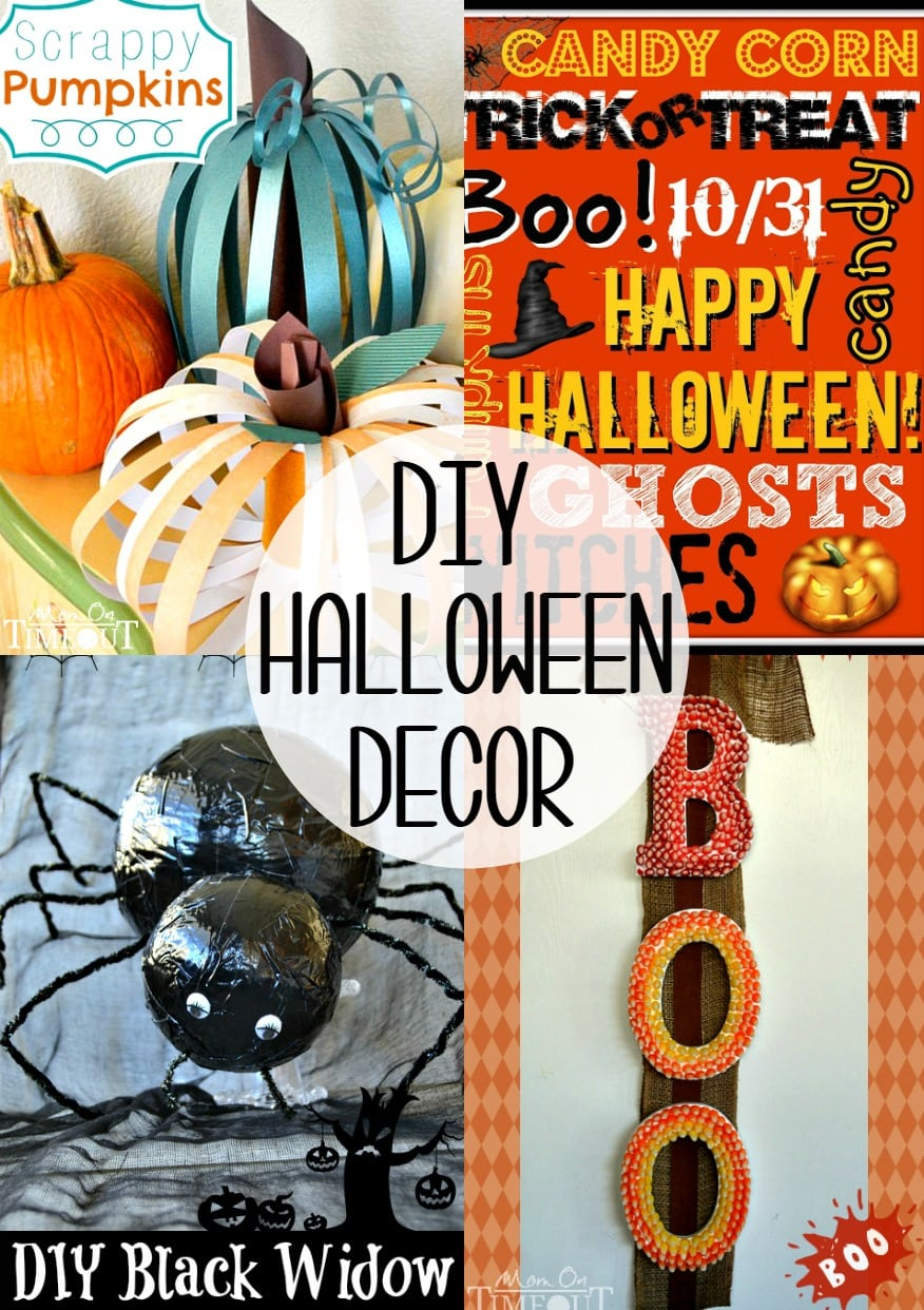 DIY Halloween Decor that's easy and inexpensive! Perfect for your Halloween party!