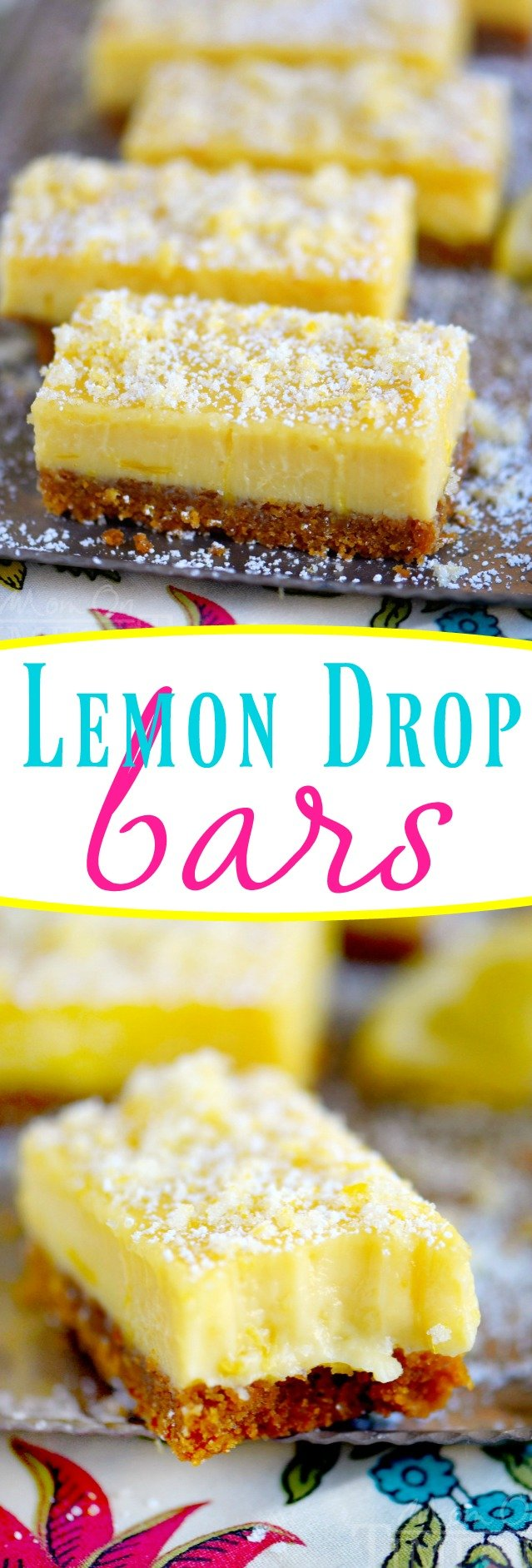 lemon bars with candied lemon zest collage