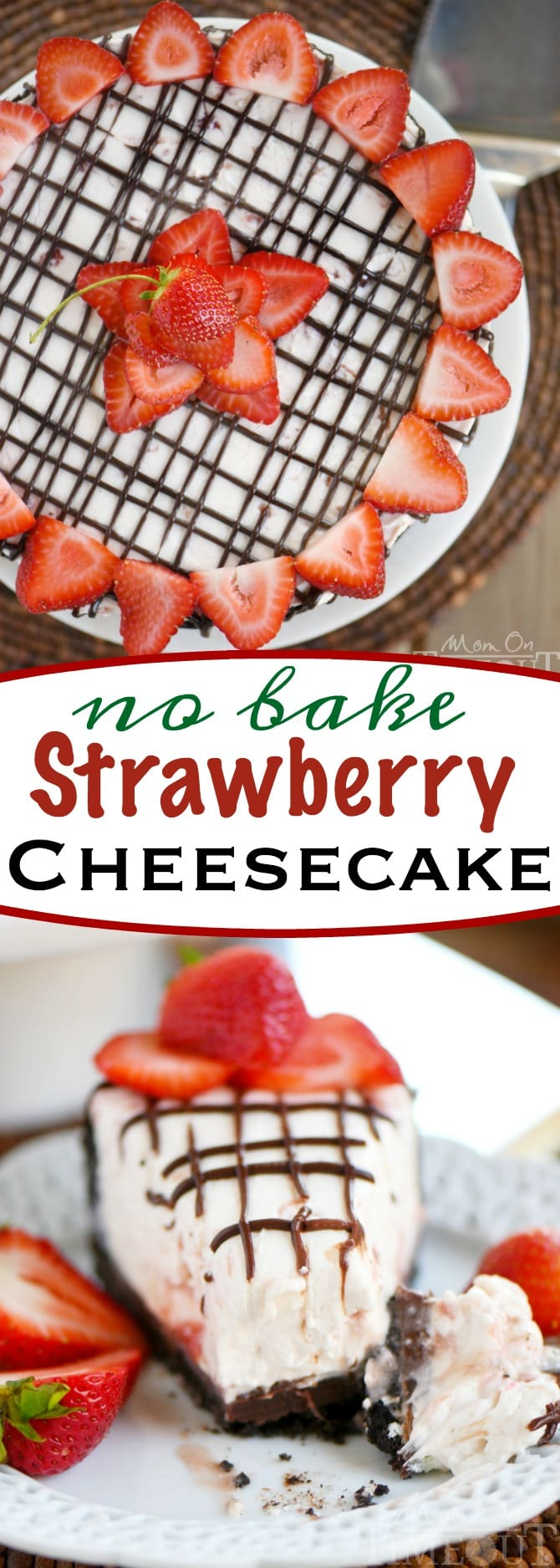 strawberry-no-bake-cheesecake-collage