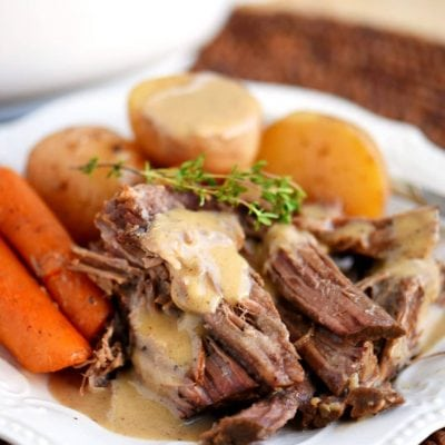perfect-pot-roast-and-gravy-plated