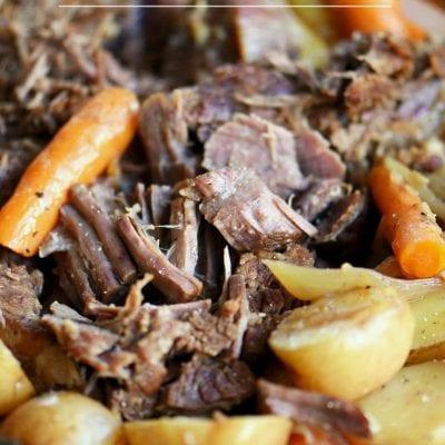 Perfect Pot Roast and Gravy