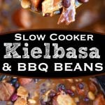 slow-cooker-kielbasa-barbecue-beans-collage