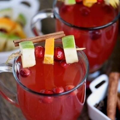 Slow Cooker Spiced Cranberry Citrus Apple Cider