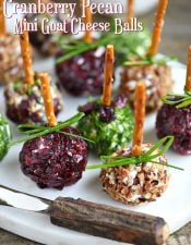 Cranberry Pecan Mini Goat Cheese Balls