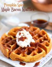 Pumpkin Spice Maple Bacon Waffles