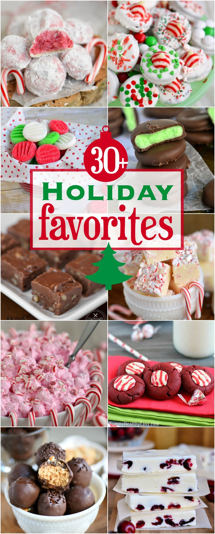 Find your new holiday favorites here! Candies, cookies, desserts, appetizers, and more! A delicious round-up featuring the best of the holidays! // Mom On Timeout