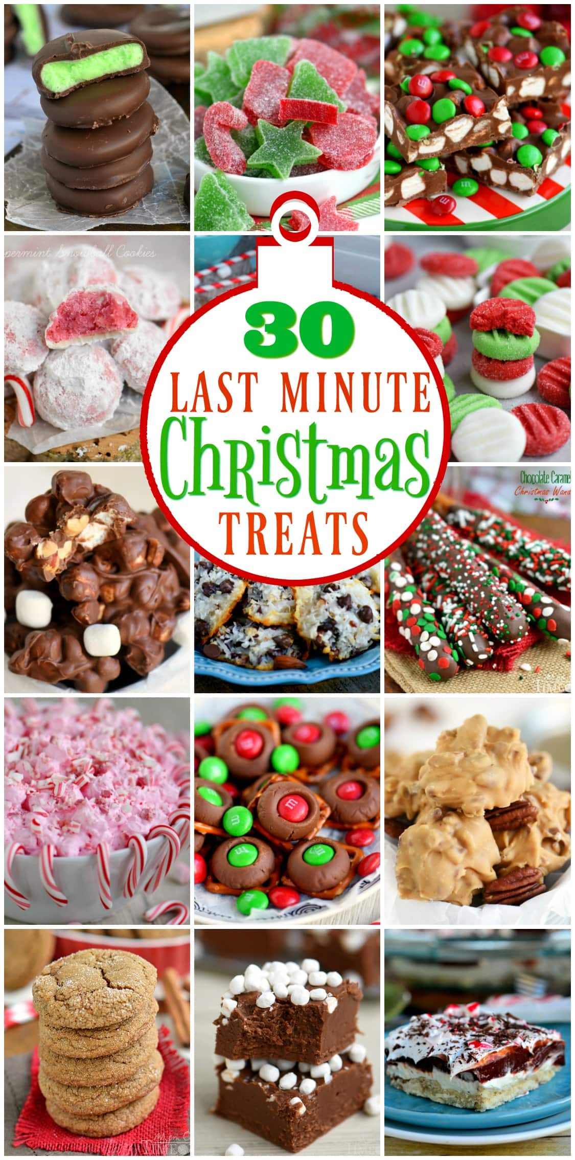 last minute christmas treats collage