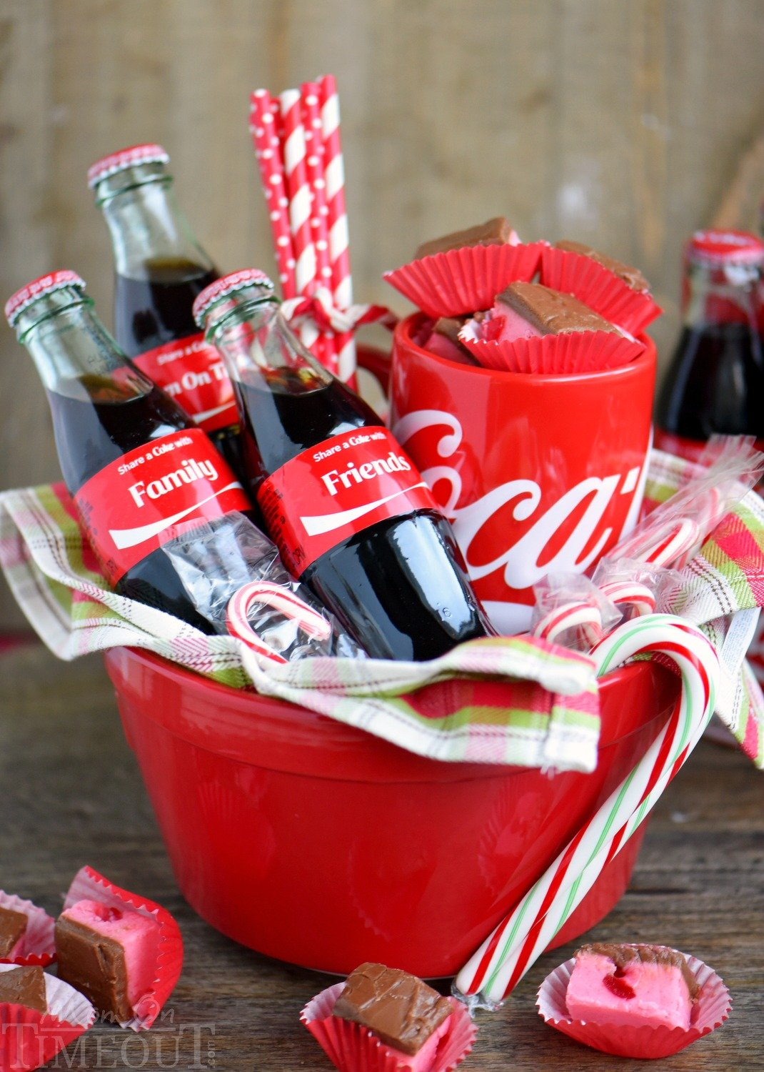 Because we can... Cherry Coke Fudge! A decadent cherry fudge topped with a Coca-Cola chocolate frosting! This irresistible fudge is sure to be a hit this holiday season! // Mom On Timeout