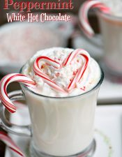 Slow Cooker Peppermint White Hot Chocolate