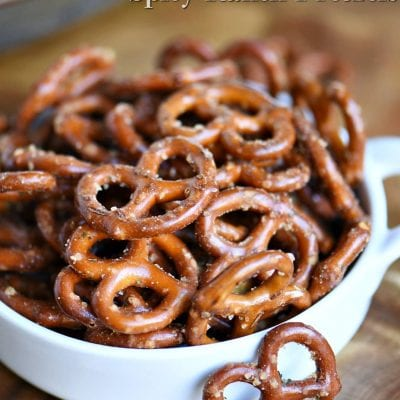 Easy Spicy Ranch Pretzels