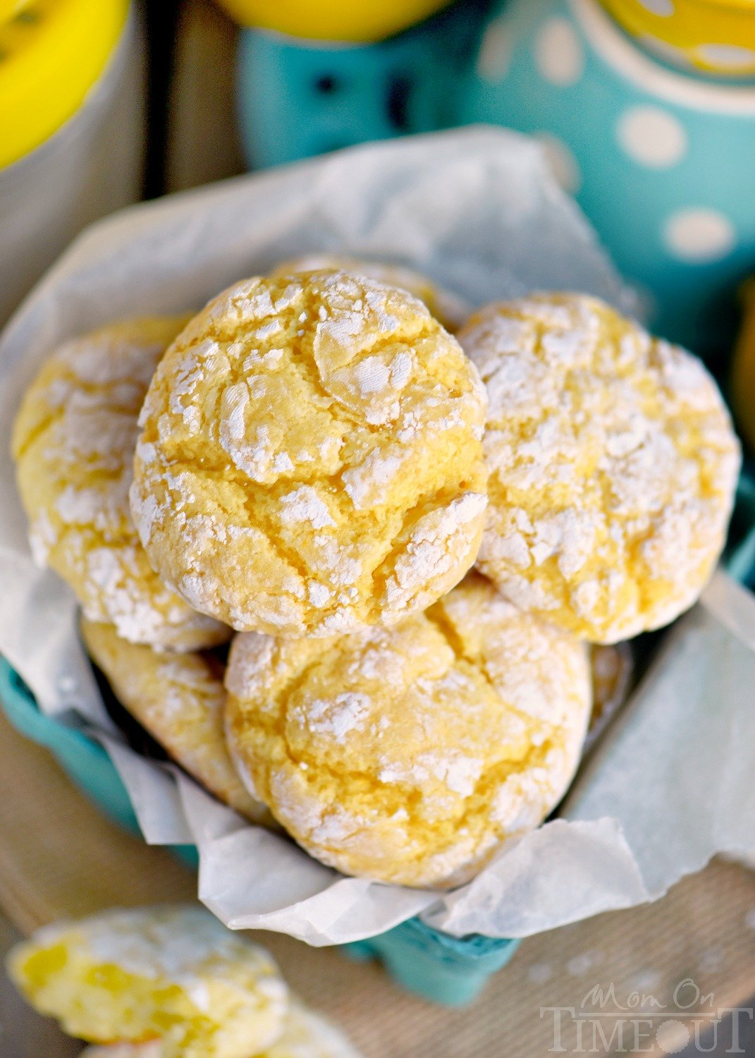 These Lemon Whippersnaps are perfect for a party! Super easy to make with just a handful of ingredients! Lemon zest and lemon juice give these amazing cookies a bright, bold flavor that's impossible to resist! // Mom On Timeout