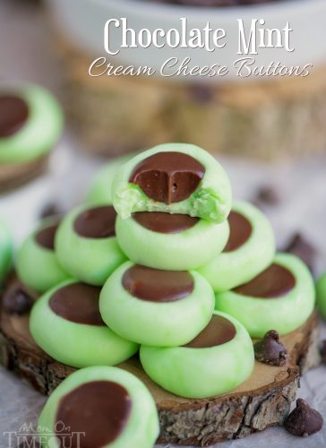 Chocolate Mint Cream Cheese Buttons