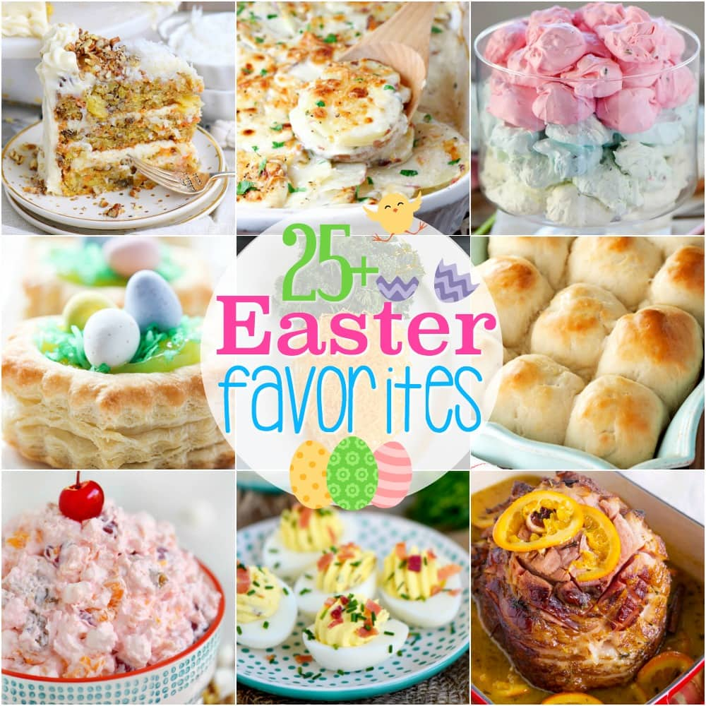 More than 25 Easter Favorites for your holiday menu! Sweets and savory recipes abound in this tasty Easter round-up! Add a few to your Easter celebration!// Mom On Timeout