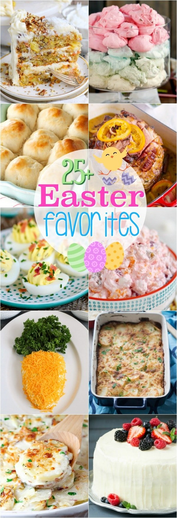 More than 25 Easter Favorites for your holiday menu! Sweets and savory recipes abound in this tasty Easter round-up! Add a few to your Easter celebration! // Mom On Timeout