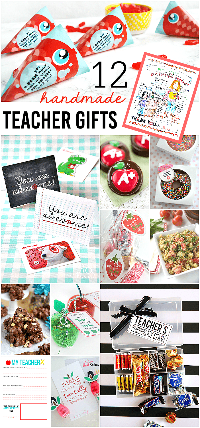 12 Handmade Teacher Gifts // Mom On Timeout