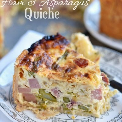 Deep Dish Ham and Asparagus Quiche
