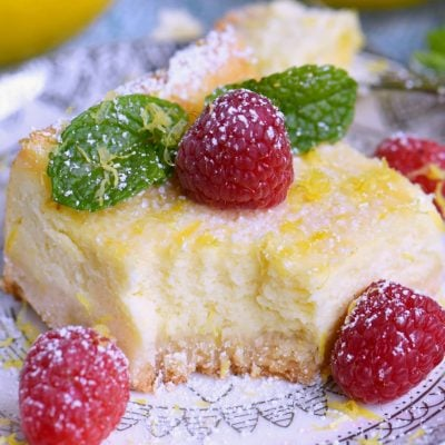 Lemon Cheesecake Bars + GIVEAWAY!
