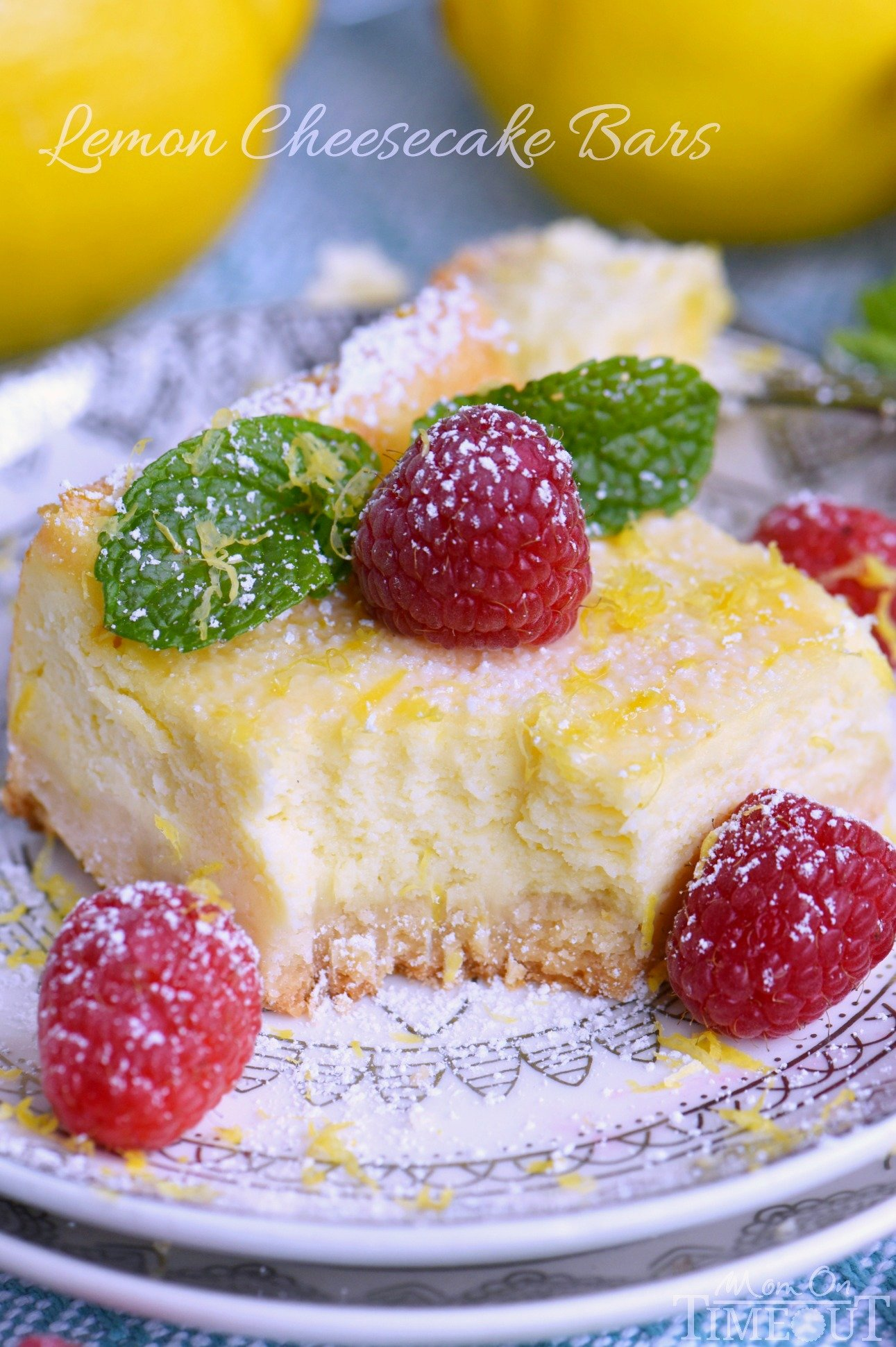 My Aunt Pam's Lemon Cheesecake Bars are made with lots of fresh lemon ...