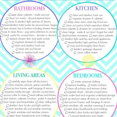 Spring Cleaning Checklist + Tips and Tricks