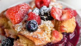 Triple Berry French Toast Casserole