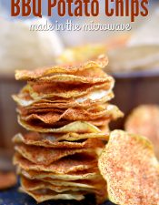 Microwave BBQ Potato Chips