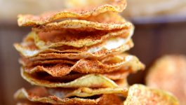 Microwave BBQ Potato Chips