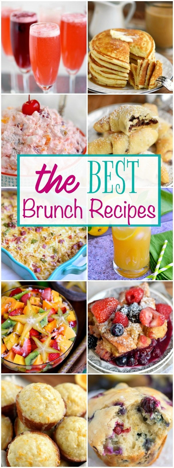 Look no further for the Best Brunch Recipes! I've got you covered with drinks, fruit salads, sweet, savory, and everything in between! // Mom On Timeout