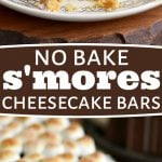 no-bake-smores-cheesecake-bars-collage
