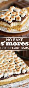 no-bake-smores-cheesecake-bars-collage