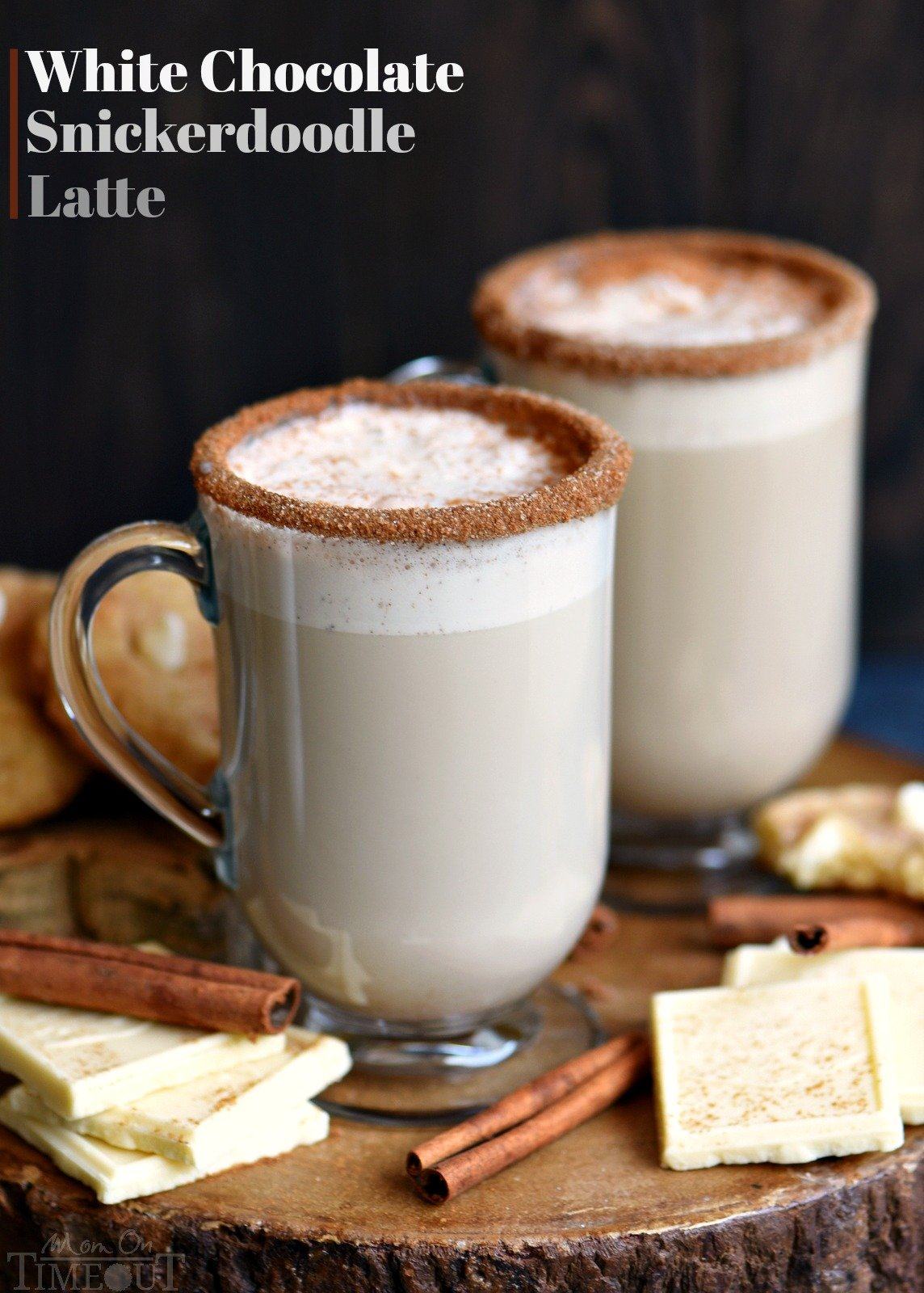 Making your own coffeehouse style latte has never been easier or more delicious! This White Chocolate Snickerdoodle Latte will delight your taste buds and all from the convenience of your own home! // Mom On Timeout