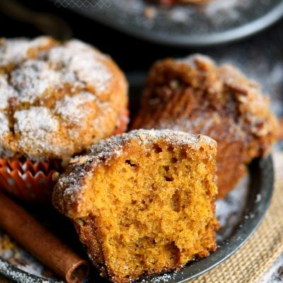 Cinnamon Sugar Pumpkin Muffins + $100 GC Giveaway