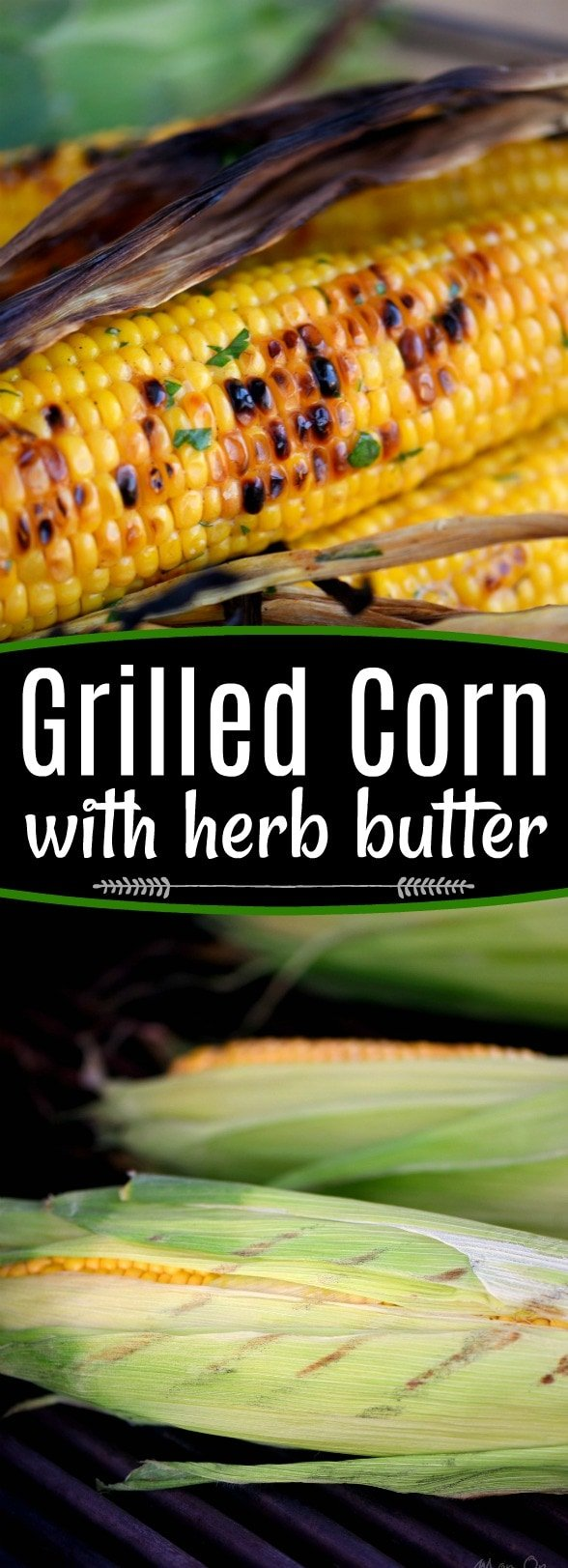 Nothing says summer like corn on the cob! This Grilled Corn with Herb Butter is sure to be a delightful addition to your summer entertaining menu. So easy to prepare and always a big hit with friends and family! // Mom On Timeout