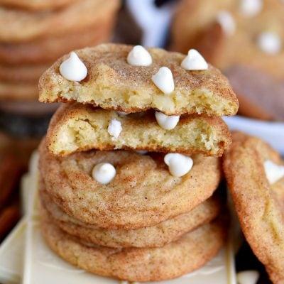 White Chocolate Snickerdoodles