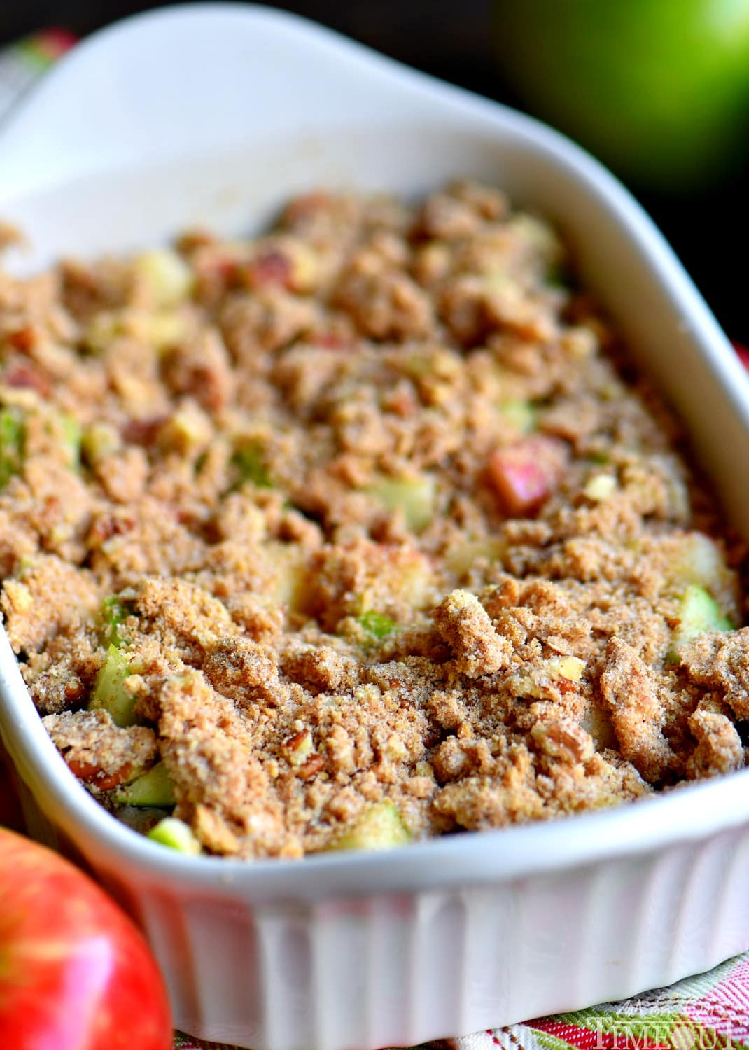 streusel topping on apple dip