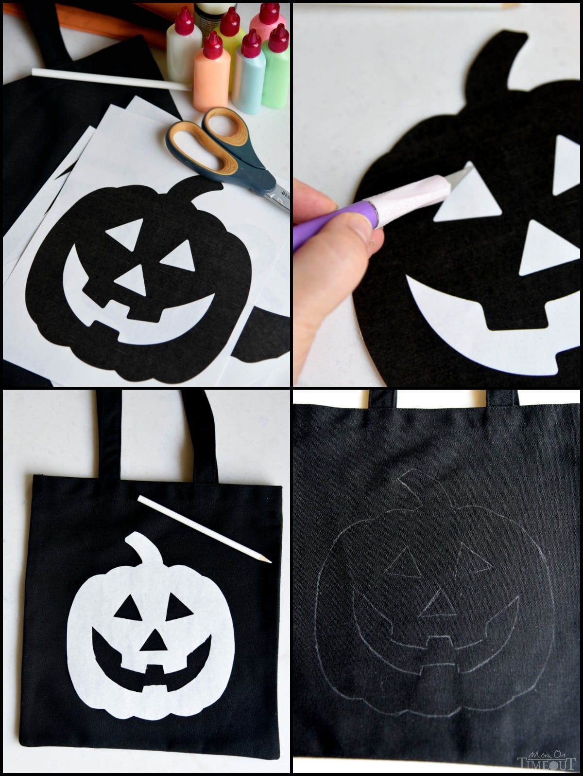 DIY Glow-in-the-Dark Trick-or-Treat Bags - Mom On Timeout