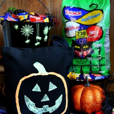 DIY Glow-in-the-Dark Trick-or-Treat Bags