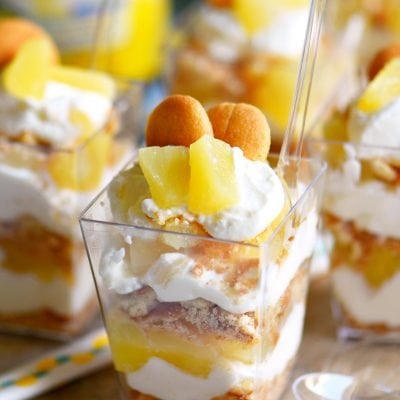 Mini Pineapple Cheesecake Trifles