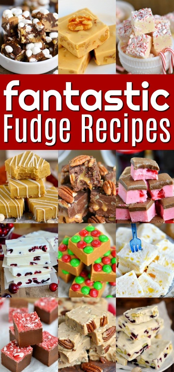 An amazing collection of the very best fudge recipes! Quick and easy, cooked, chocolate, peanut butter, nuts or no nuts, peppermint, pineapple - we've got it all! Perfect for the holiday season and all year long! // Mom On Timeout #fudge #recipe #recipes #holiday #christmas #easyfudge #chocolate #peanutbutter #peppermint