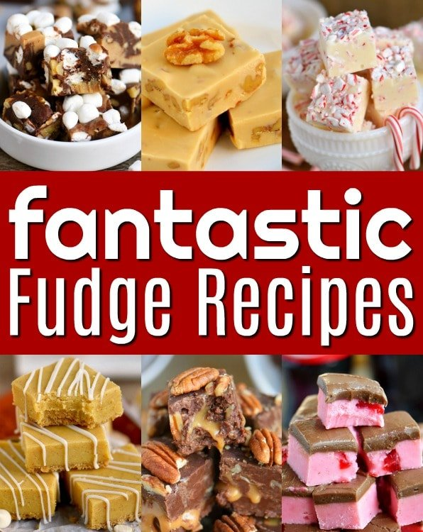 An amazing collection of the very best fudge recipes! Quick and easy, cooked, chocolate, peanut butter, nuts or no nuts, peppermint, pineapple - we've got it all! Perfect for the holiday season and all year long! // Mom On Timeout