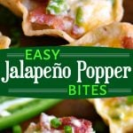 2-image-collage-showing-jalapeno-popper-bites-up-close-in-top-image-and-on-wood-board-in-bottom-image-with-center-color-block-and-text-overlay