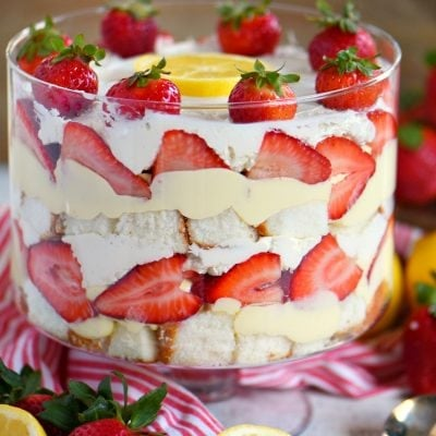 Lemon Strawberry Trifle