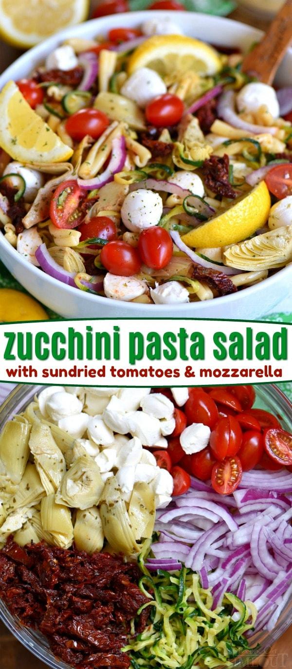 zucchini-pasta-salad-recipe-sundried-tomatoes-artichokes-mozzarella