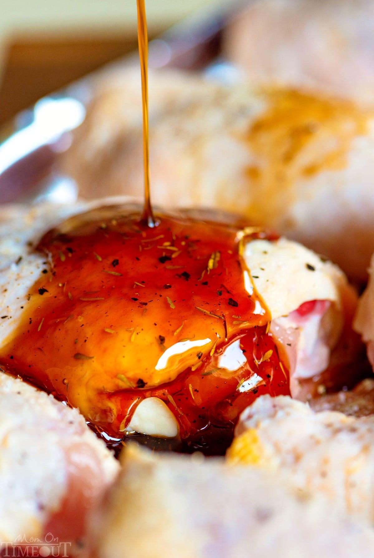 Easy Glazed Honey Balsamic Chicken Mom On Timeout
