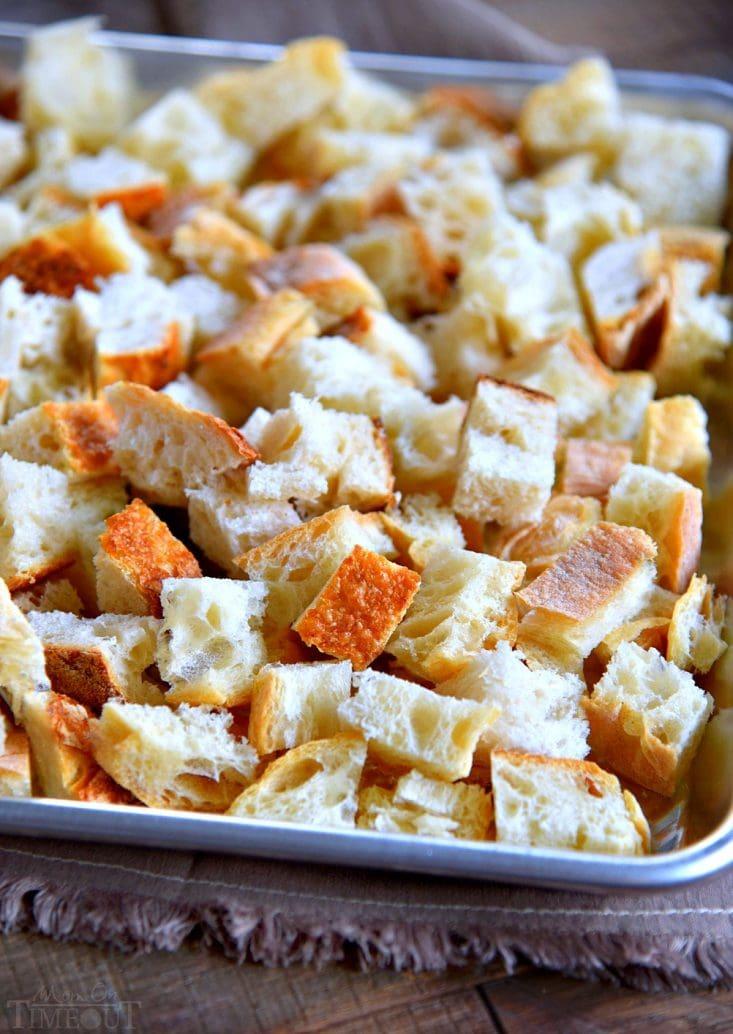 bread-cubed-baking-sheet