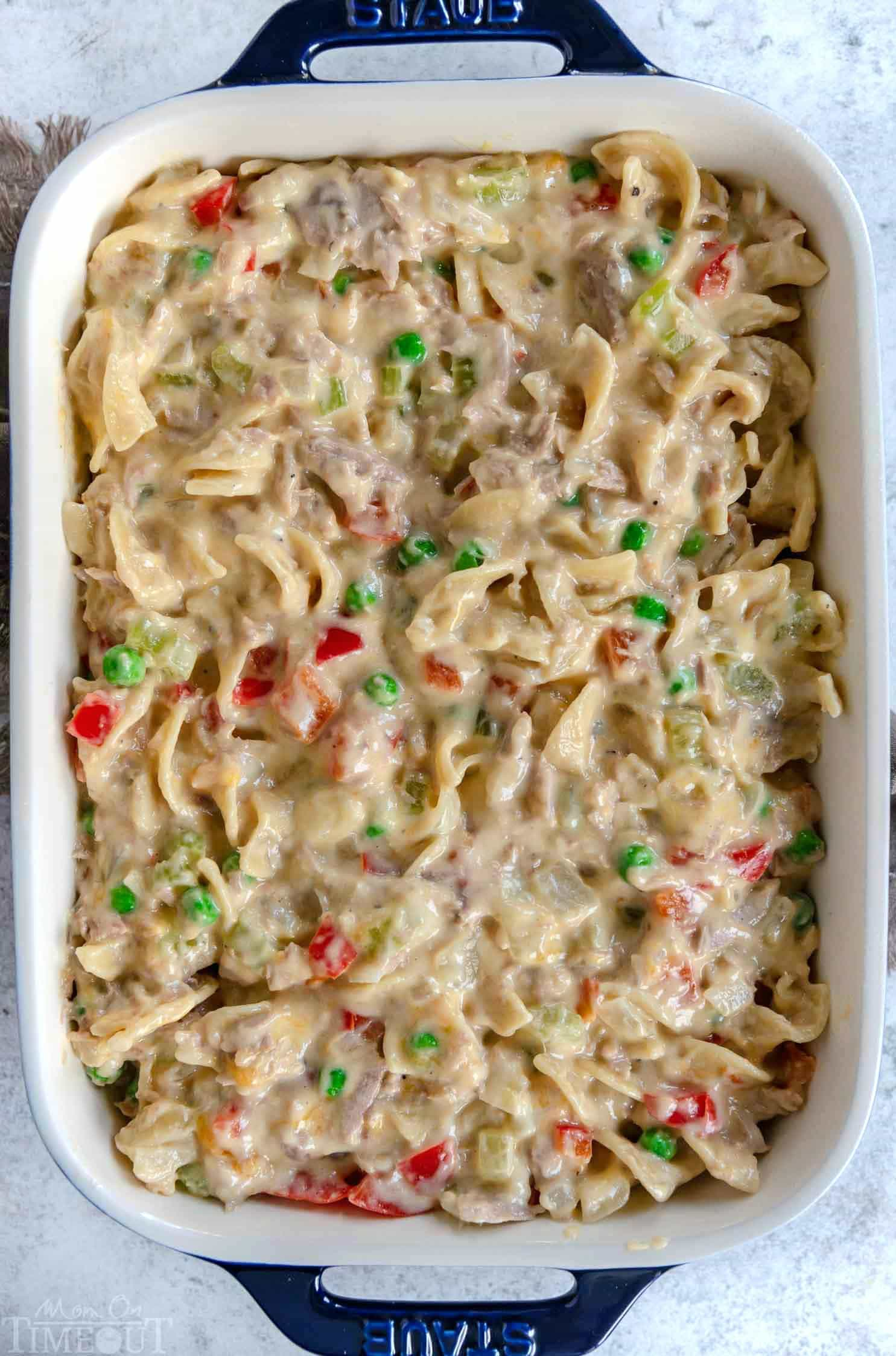 easy-tuna-casserole-in baking-dish